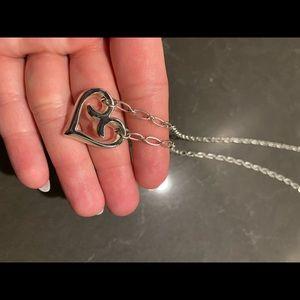 Brighton Brand Silver heart necklace